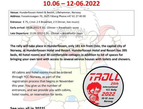 The 25th International YCC Rally